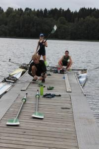 Gustav,Hanna og Nikolay legger utpå en tøff singel-økt